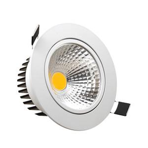 Regulável Levou Downlights AC110V 220 V COB 5 W 7 W 9 W 12 W Lâmpadas de Teto Recesso Luzes Quente Branco Fresco Iluminação Interior