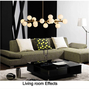 Livraison gratuite Moden Art Pendentif Gold Gold / Black Magic Bean LED Lampe Vivant Magasin de salle à manger Magasin de suspension LED