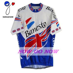 chaud cyclisme jersey UK GB hommes vêtements vélo usure nowgonow rétro Jersey été bleu pro racing ropa ciclismo vtt route china bicicleta