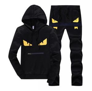 Devil yeux survêtements patchwork sportswear hoodies + pantalons ensembles mens hoodies et sweatshirts outwear costumes livraison gratuite
