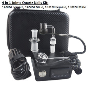 Banger E Quarznagel Electric Dab Nagel Box Kit Quarznagel Carb Cap 14 18 MM Männlichen Temperaturregler Rig Glas Bongs