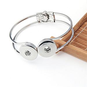 Charm Snap Button Armbänder fit 18mm Metallknöpfe Chunks Snap Armband Antik Silber Ingwer Snap Schmuck öffnen Armbänder 10pcs
