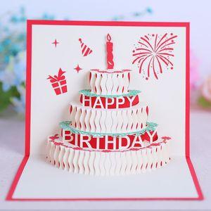 поздравительные открытки день рождения партия выступает день рождения украшения дети 90 градусов 3D торт ко дню рождения всплывающие карты поздравительная открытка