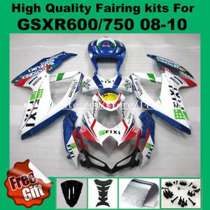 100٪ Fit Fairings لعام 2008 2009. سوزوكي K8 K9 GSXR600 GSXR750 2008 2009 2010 08 09