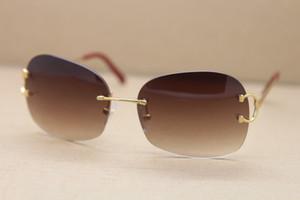 Hersteller Großhandel 4193829 Qualität Frauen UV400 Sonnenbrillen Randlos-Design 2020 Hot Verkauf Halbrahmengläser überdimensionierte C-Dekoration