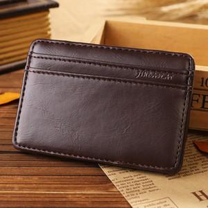 La venta caliente de la nueva manera del estilo retro de cuero de la PU Magic Wallets hombres y mujeres de alta calidad de diseño Mini Multi-purpose Card de la tarjeta de crédito Magic Wallet
