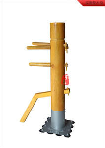 Donnie Yen training muk yan jong artes marciales, Patent stand column Wing Chun Wooden Dummy, one whole wood kung fu mannequin