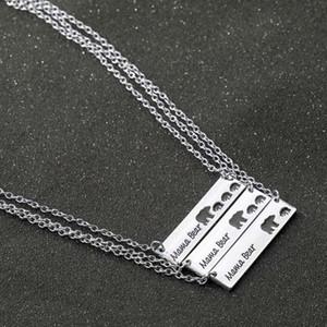 jóias carta colar de presente dia bebê chuveiro dom animais jóias hip hop Mama colar de urso da mãe para o navio da gota mãe