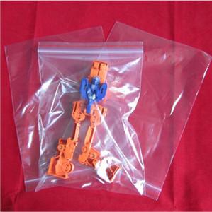 Emballage cadeau 6 * 8cm Mini PE Alimentaire Transparent Sac Cadeau Emballage En Plastique Sacs Pour Anneaux Boucles D'oreilles Bijoux Mini Ziplock Sacs 500pcs = 1 sac
