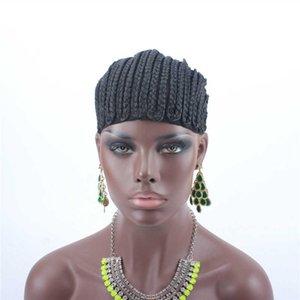 재고 있음 5pcs Cornrows Cap 땋은 가발에서 더 쉬운 봉합을위한 크로 셰 뜨개질 검정색 고품질 고품질 스트레치 블랙