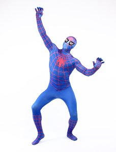 DHL shipping Man Full Body Hood Suit Lycra Zentai Costume Spider Man Symbiote Costume