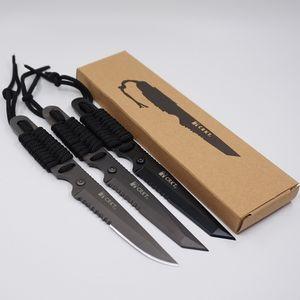 Cuchillo de supervivencia de caza de acero inoxidable 3Cr13 de alta calidad Full Tang Fixed Blade Acampar al aire libre Herramientas EDC Autodefensa Buceo Cuchillo recto