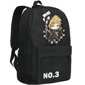 Black Mekakucity Actors backpack Mekaku city school bag Anime fans daypack Project schoolbag Outdoor rucksack Sport day pack