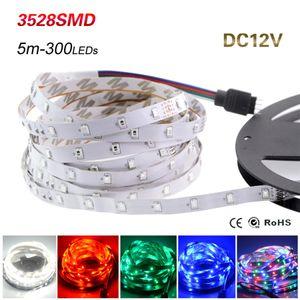 Светодиодная полоса Света 3528 SMD 5M 300LEDS 12V Гибкая Светодиодная лента Диодная лента RGB Одиночные цвета LEDSTRIP Высокое Качество Fita LED