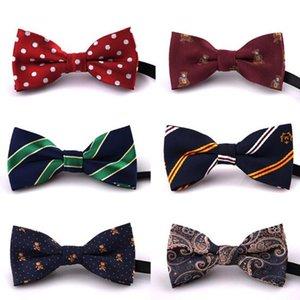 NOVAS Crianças Meninos Do Bebê Bowtie gravata Imitação De Seda Formais Tuxedo Bow Tie Moda Crianças Impresso Casamento Gravata acessórios 79 cor