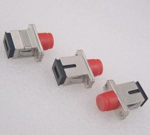 Бесплатная доставка GONGFENG новый разъем Telecom SC-FC / FC-SC металла одномодовый многомодового волокна муфта фланец адаптер 10 шт. / лот