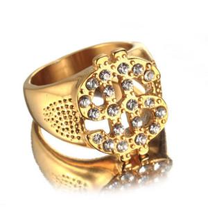 2017 الهيب هوب بلينغ USD دولار CZ مثلج خارج الفرقة خاتم الذهب للرجال قلادة مجوهرات هدية