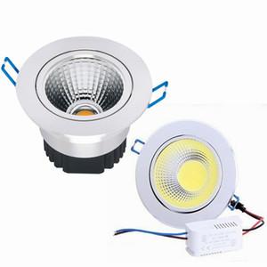 Новейшие серебристые затемняемые светодиодные светильники 9W 12W 15W COB Led Down Light Утопленный потолочный светильник 120 Угол AC 110-240V + CE ROHS UL