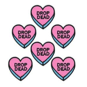 10 pezzi divertenti patch cuore per abbigliamento ferro ricamato patch applique ferro sulle toppe accessori cucito per abiti fai da te