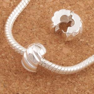 10mm Silber Überzogener Ton Kürbis Stopper Großes Loch Perlen Clip 30 Teile / los Fit Europäischen Charme Armbänder Metall Schmuck DIY L1749