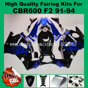 Carene 9Gifts per HONDA CBR600F2 1991 1992 1993 1994 CBR600 F2 91 92 93 94 CBR 600RR F2 corpo + serbatoio blu nero Kit carenatura