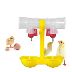 Suministros para mascotas Doble salida Bebida Colgante Pollos Copas Bebedero de pezones Aves de corral Waterer Suministros de alimentación Bebederos para pollos