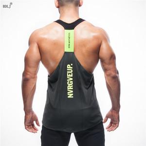 BDLJ Musculation ginásios colete homens roupas musculação aptidão camisola Regatas ginásios camisola camisola Sportswear
