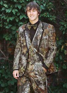 2018 Realtree Camo Mariage Smokings Ferme Mariage Camouflage Costume Fait Fait Slim Fit Hommes Blazers Mode Groom Porter (Veste + Pantalon)