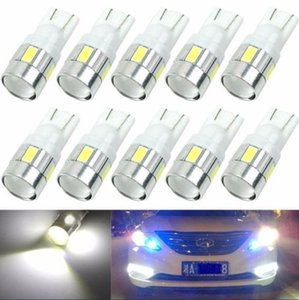 100X T10 194 168 6000K W5W 5630 LED 6-SMD Voiture Wedge Light Bulb Projector Lens livraison gratuite