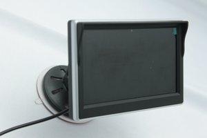 5 بوصة tft lcd شاشة سيارة مراقب PZ706 2 طريقة إدخال الفيديو dc12v 24 فولت تلقائيا عرض عند عكس الشحن بواسطة dhl