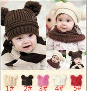 2017 новый 10 шт. Baby Cub Baby Baby Двойная шариковая шерсть вязаная шапка Baby Boy Padies Handmade Cap детская хлопковая шляпа M055