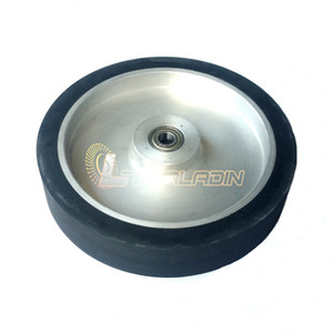 250*50mm Contact Wheel Belt Sander Rubber Wheel Flat surface ID customized