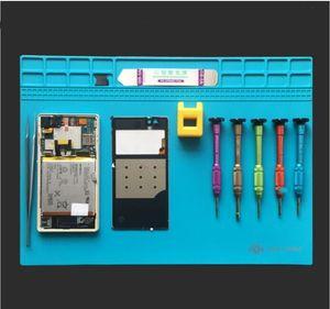 내열 납땜 매트 실리콘 히트 건 BGA 납땜 스테이션 절연 패드 수리 도구 유지 보수 플랫폼 데스크 매트