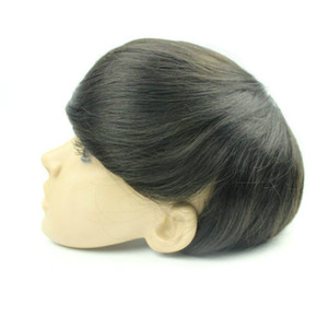 "Toupee men base size 6x8"" 7x9"" 8x10"" mono lace and PU wigs 100% real hair for men hair system mens toupee fast shipping"