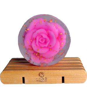 High quality 100g Rose handmade soap cleanser replenishment whitening Gold Natural Handmade Soap Free Shipping