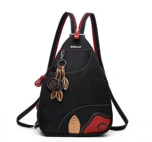 Waterproof Oxford cloth shoulder bag female Korean version of the multi-functional fashion travel backpack leisure Mummy bag