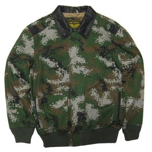 염소 가죽 칼라가있는 고급 레인 비행 재킷 US Air Force suit 제 2 차 세계 대전 클래식 A2 남성 재킷 면화
