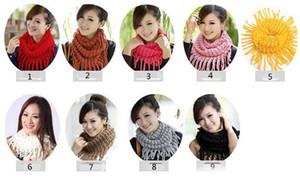 женщины шарф кольца вязать шарфы женщина женщин зимние вязать Инфинити круг шарф шарфы обруча девушки кисточкой дамы шеи шарф