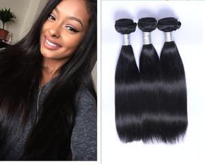 100 ٪ منتجات الشعر غير المجهزة الإنسان 3 حزم الشعر البرازيلي موجة الجسم 100 ٪ الشعر البرازيلي ينسج متموجة مع قبعة