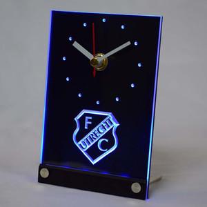 Atacado-tnc1007 FC Utrecht Football Club Tabela LED Eredivisie 3D Desk Clock