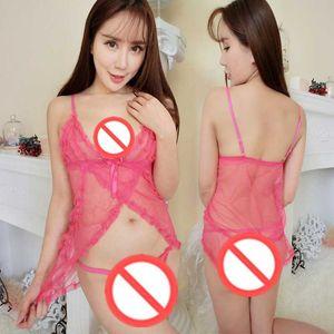 O envio gratuito de new sexy lingerie sexy net fio antes da perspectiva aberta pijama lace tule sexy underwear sling tentação quente transparente