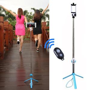 Universale portatile pieghevole treppiede gamba monopiede Bluetooth Remote treppiede selfie Stick 3 in 1 estensibile portatile per iPhone Sumsung