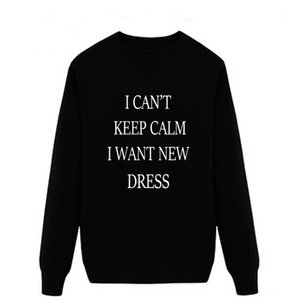 New I Can't Keep Calm I Want New Dress 2018 autumn this is me printed Men O Neck T Shirt Casual long Sleeve Slim Fit