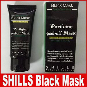 SHILLS Pulizia profonda Maschera nera Detergente ai pori 50ml Maschera Peel-off purificante Testa nera Maschera facciale Spedizione gratuita