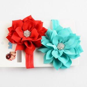 Livraison gratuite New Fashion Beautiful Children Flower Band cheveux bébé Head Hoop Lotus Feuille strass tête de bande FD97