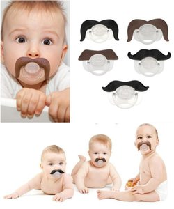 Hot 50pcs baby pacifier funny pacifier Cute Teeth Mustache Baby Boy Girl Infant Pacifier Orthodontic Dummy Beard Nipples Pacifiers safe