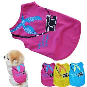 Nuovi vestiti qualificati New Pet Fashion Small Dog maniche Camera dell'animale domestico di stampa T-shirt cani Vest Levert Dropship