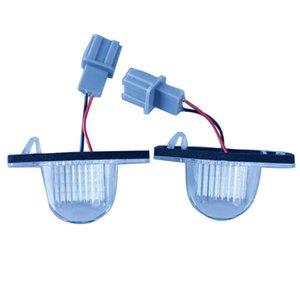 Автомобиль 2 * светодиодная лампа номерного знака 18 SMD 3528 для HONDA JAZZ (Fit) Odyssey CRV FRV LED License plate Light