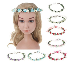 New Girls Wedding Headwear Baby Garlands Children Babysbreath Flower Rattan Garland princess Beach Headdress Hair Accessories