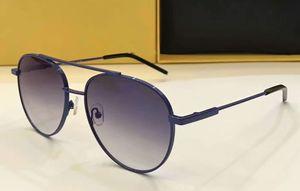 Designer Pilot 0222 / S Óculos De Sol Azul / Cinza Espelhado lentes unisex Moda Marca Mulheres Óculos De Sol com caixa